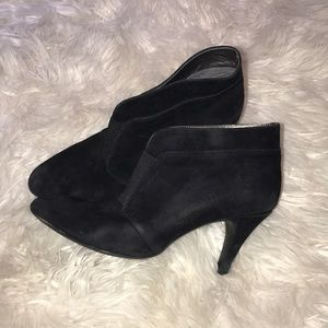 Closed toed black booties